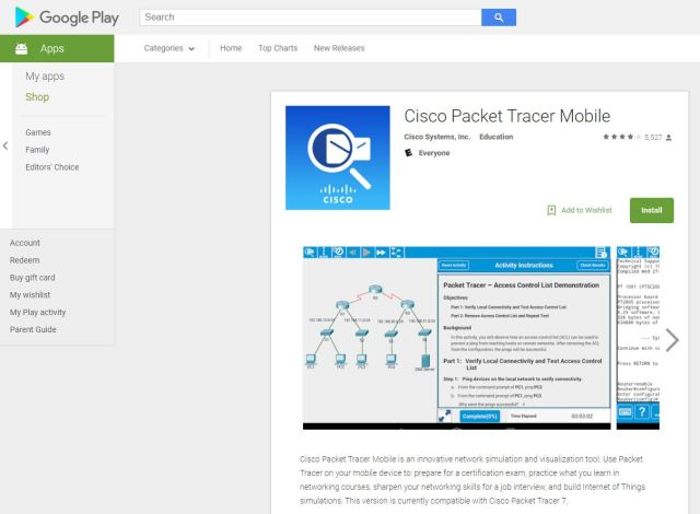 Packet Tracer Mobile